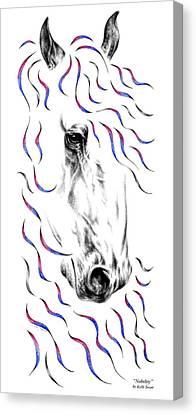Friesian Horse Nobility Canvas Print by Kelli Swan