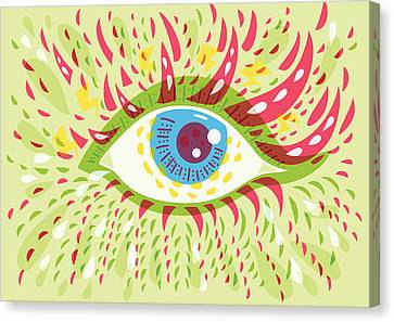 From Looking Psychedelic Eye Canvas Print by Boriana Giormova