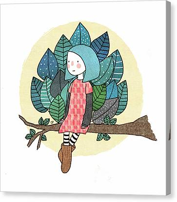From My Throne Of Leaves, From My Bed Of Grass Canvas Print by Carolina Parada