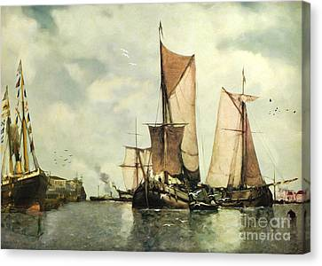 From Sail To Steam - Transitions Canvas Print by Lianne Schneider