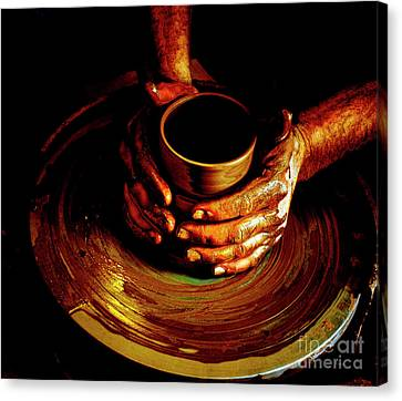 From The Hands Of An Artist Canvas Print by Steven  Digman