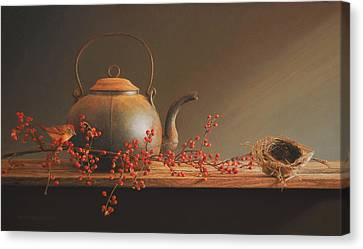 From The Hearth Canvas Print by Barbara Groff