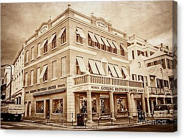 Front Street In Bermuda Canvas Print by Charline Xia