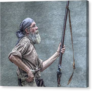Frontiersman Face Of Time Canvas Print by Randy Steele