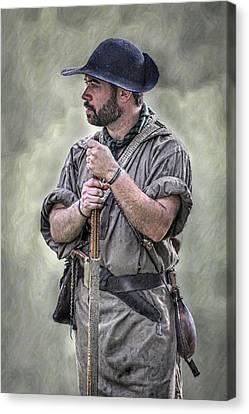 Frontiersman Ranger Scout Portrait Canvas Print by Randy Steele