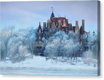 Frosted Castle Canvas Print by Lori Deiter
