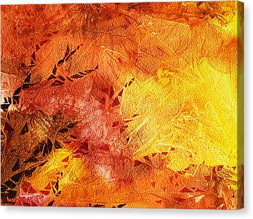 Frosted Fire II Canvas Print by Irina Sztukowski