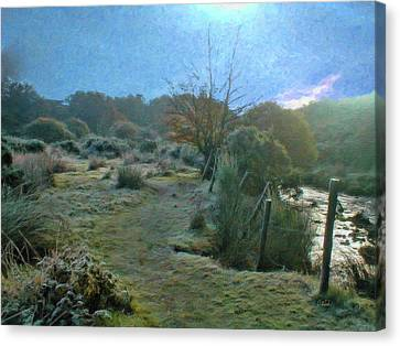 Frosty Morning At Dartmoor - P4a160003 Canvas Print by Dean Wittle