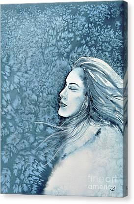 Frozen Dreams Canvas Print by Zaira Dzhaubaeva