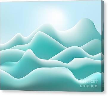 Frozen Landscape Canvas Print by David Gordon