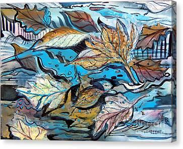 Frozen Pond Canvas Print by Mindy Newman