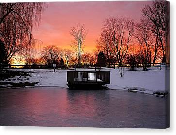 Frozen Sunrise Canvas Print by Frozen in Time Fine Art Photography