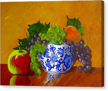 Fruit Bowl II Canvas Print by Pete Maier