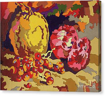 Fruit Contintents Canvas Print by Kristian Leov