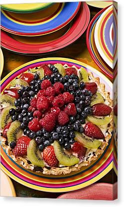 Fruit Tart Pie Canvas Print by Garry Gay