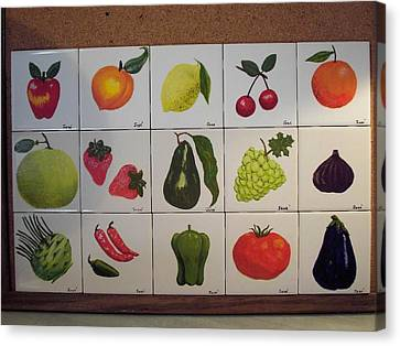 Fruits And Vegetables Canvas Print by Hilda and Jose Garrancho