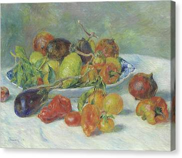 Fruits Of The Midi Canvas Print by Pierre Auguste Renoir