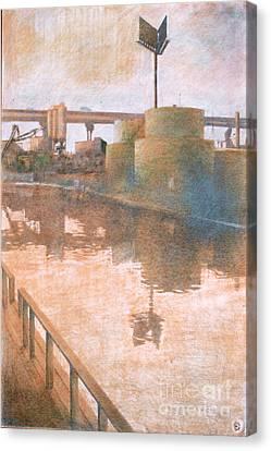Fuel Tanks Canvas Print by Stefan Beltzig