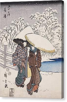 Fujisawa Canvas Print by Hiroshige