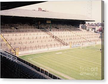 Fulham - Craven Cottage - North Stand Hammersmith End 1 - April 1991 Canvas Print by Legendary Football Grounds