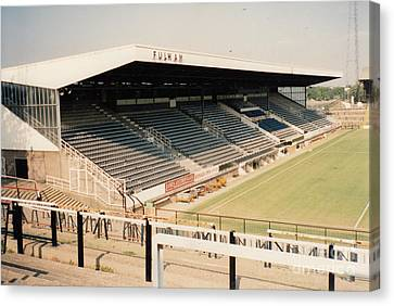 Fulham - Craven Cottage - Riverside Stand 3 - September 1991 Canvas Print by Legendary Football Grounds