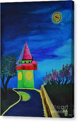 Full Moon Above Graz Canvas Print by Mario Lorenz