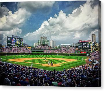Fun At The Ballpark Canvas Print by Andrew Soundarajan