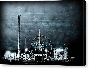 Fun In The Dark - Jersey Shore Canvas Print by Angie Tirado