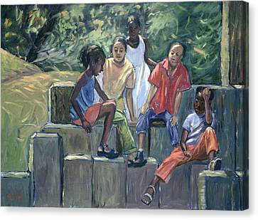 Fun In The Park Canvas Print by Carlton Murrell