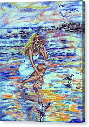 Fun In The Sun Canvas Print by Yelena Rubin