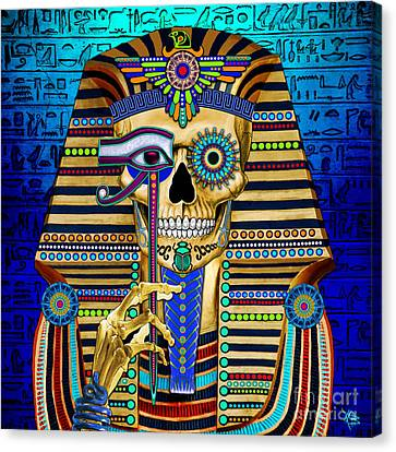 Funky Bone Pharaoh Canvas Print by Christopher Beikmann