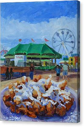 Funnel Cake  Canvas Print by Billie Colson