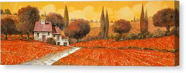 fuoco di Toscana Canvas Print by Guido Borelli