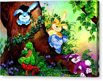 Furry Forest Friends Canvas Print by Hanne Lore Koehler