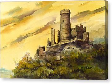 Furstenburg On The Rhine Canvas Print by Sam Sidders