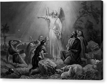 Gabriel Announcing The Birth Of Jesus Canvas Print by War Is Hell Store