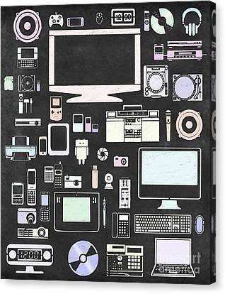 Gadgets Icon Canvas Print by Setsiri Silapasuwanchai
