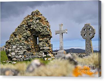 Gaelic Headstone Canvas Print by Stephen Smith