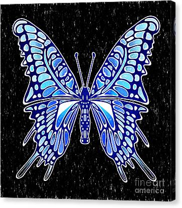 Galactic Butterfly Canvas Print by Kasia Bitner