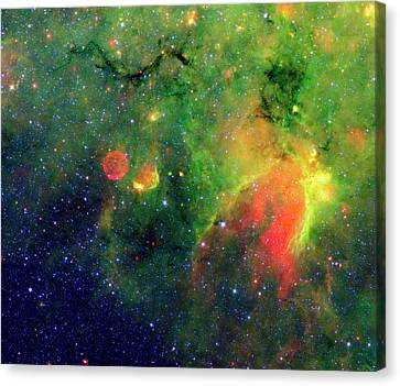 Galactic Snake In Infrared Milky Way Canvas Print by Mark Kiver