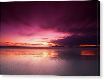 Galapagos View At Sunset Canvas Print by Andre Distel Photography