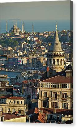Galata Tower Canvas Print by Photo by Bernardo Ricci Armani