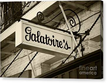 Galatoire's Friday Brunch Canvas Print by Leslie Leda