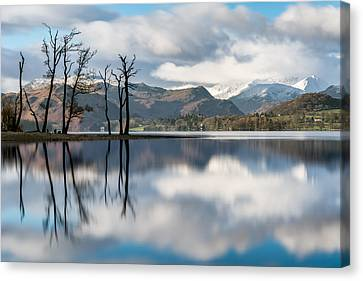 Gale Bay Reflections - Ullswater, Lake District. Canvas Print by Daniel Kay