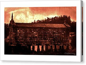 Galician Horreo Canvas Print by Xoanxo Cespon