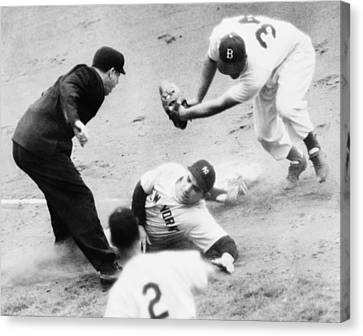 Game Four Of The 1949 World Series Canvas Print by Everett