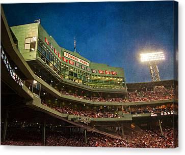 Game Night Fenway Park - Boston Canvas Print by Joann Vitali
