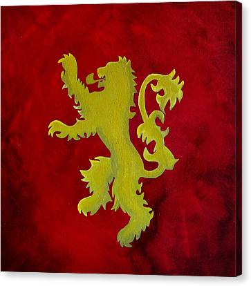 Game Of Thrones House Lannister Sigil Canvas Print by Michelle Eshleman