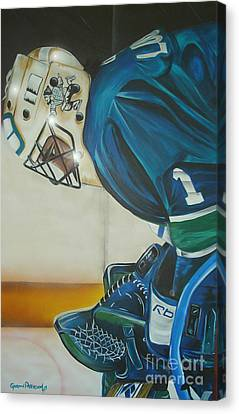 Game On Canvas Print by Gordon Paterson