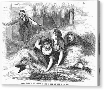 Games: Hide And Seek, 1887 Canvas Print by Granger